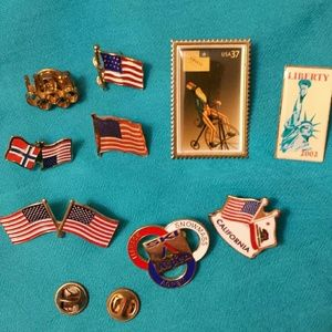 Jewelry - *FINAL PRICE* Assorted As Is Americana Pins